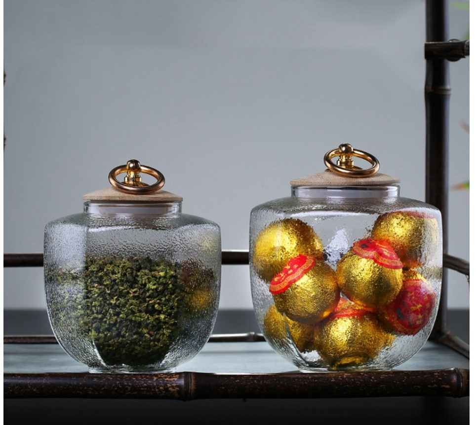 Vintage Style Glass Tea Jar