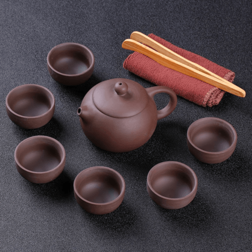Purple Clay tea pot & Chinese tea set