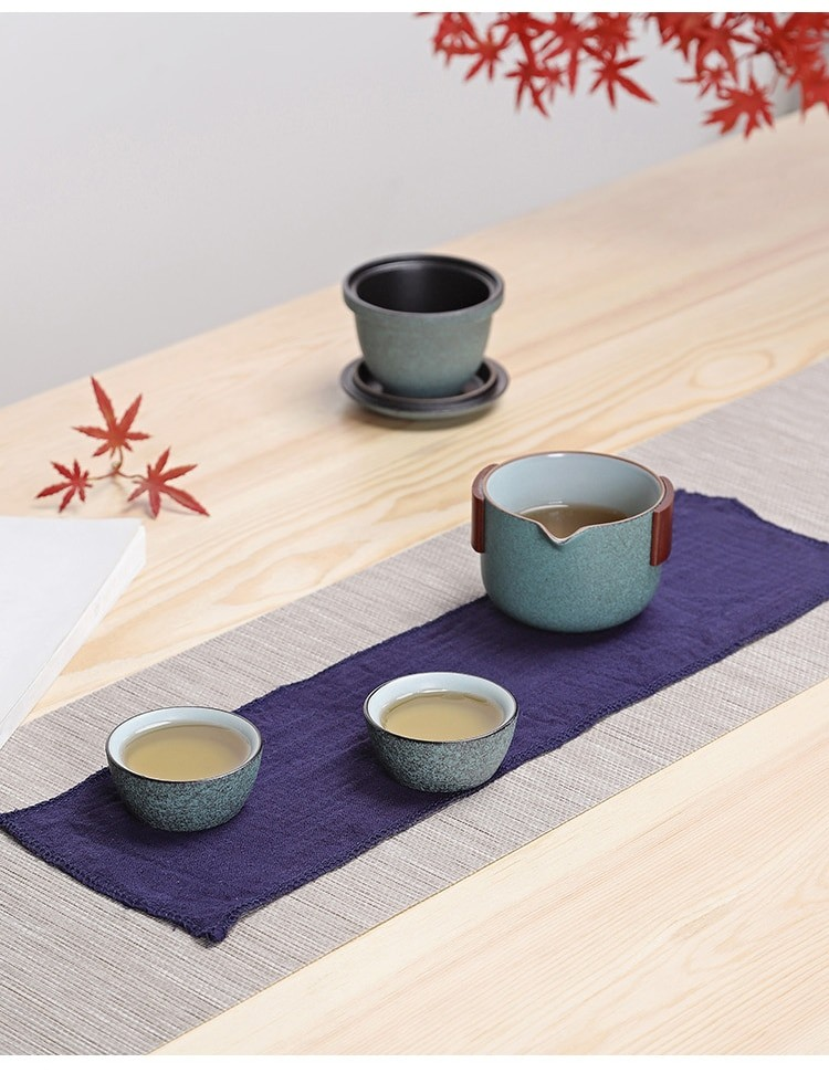 Ceramic Travel Tea Set