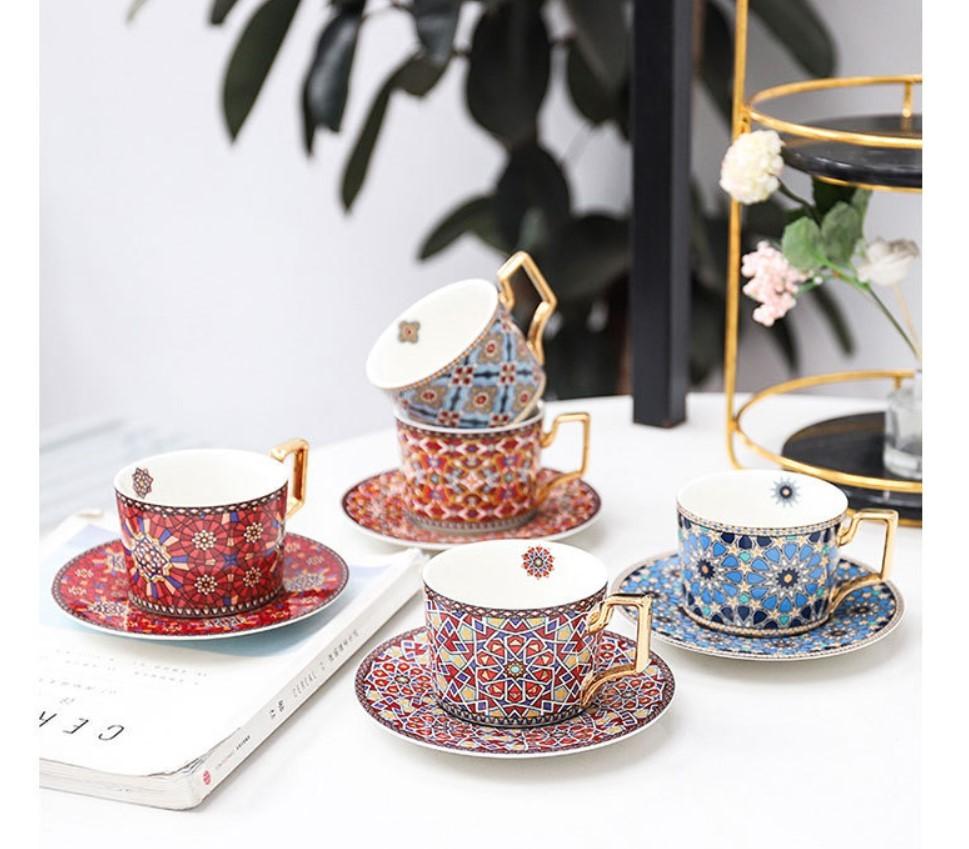 Ceramic Tea Cup and Saucer