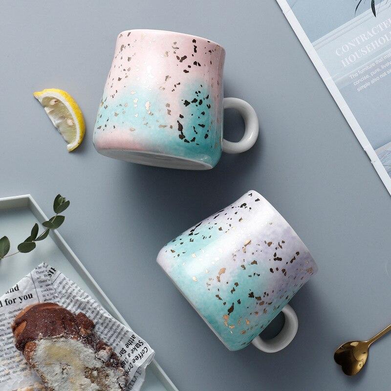 Purple / Pink Ceramic Tea Cup