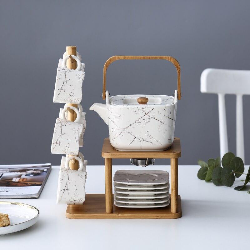 Marble Ceramic Tea Set