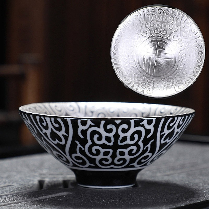High Grade Silver Plated Tea Cup