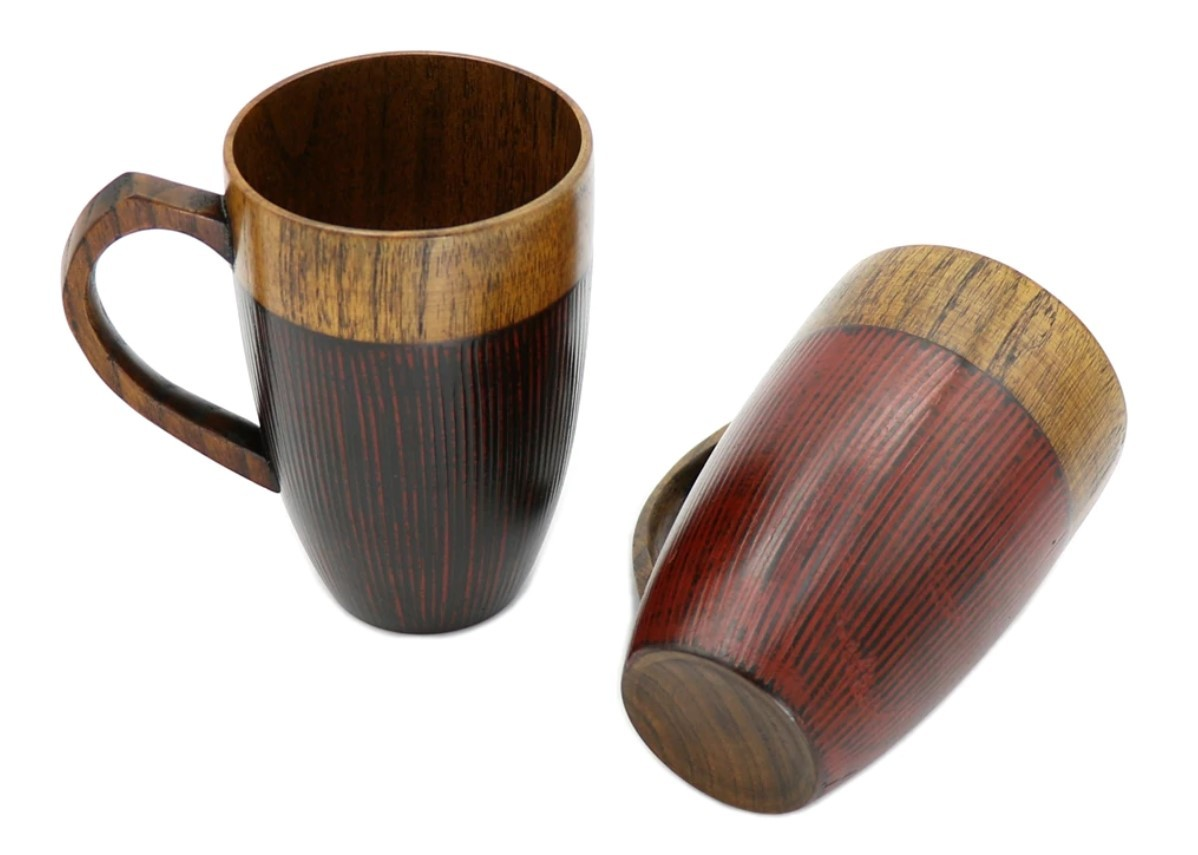 Two Tone Wooden Tea Cup