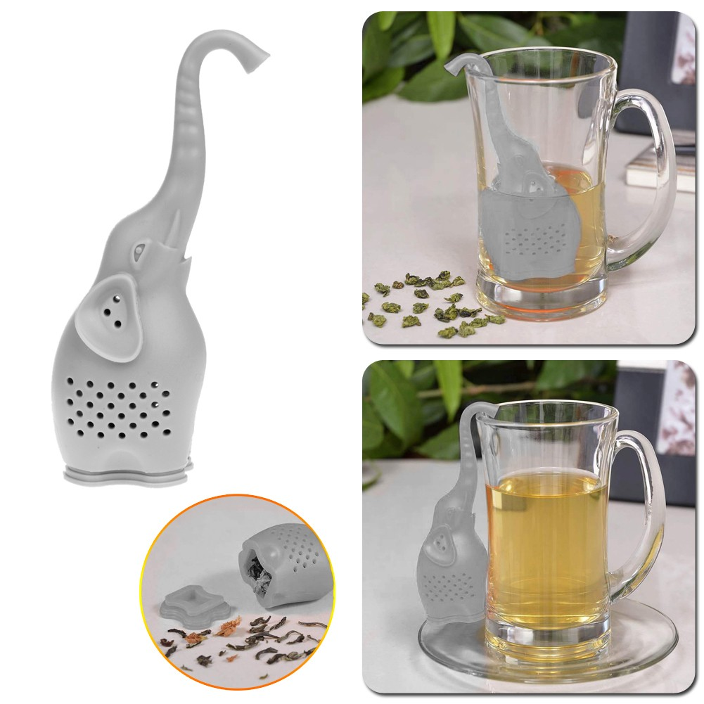 Lovely Elephant Shaped Eco-Friendly Silicone Tea Strainer