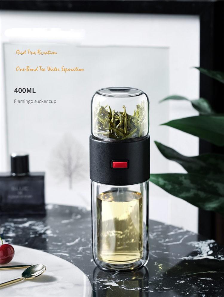 Glass Tea Bottle for Travel