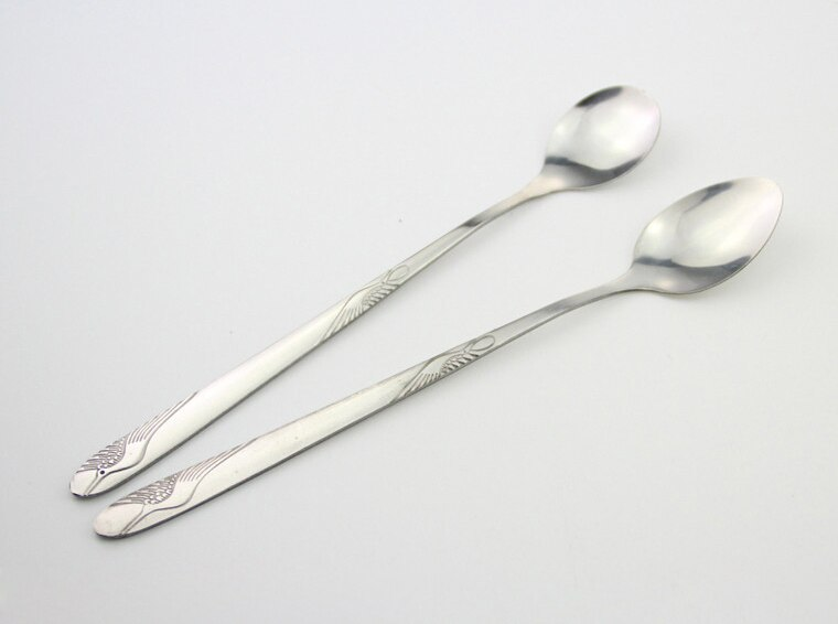 Floral Patterned Stainless Steel Tea Spoons Set