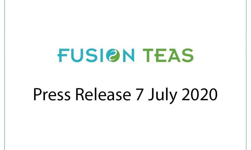 Fusion Teas press release