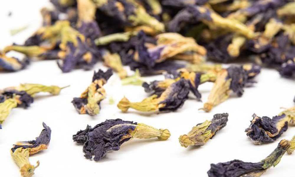 blue butterfly pea flower tea.