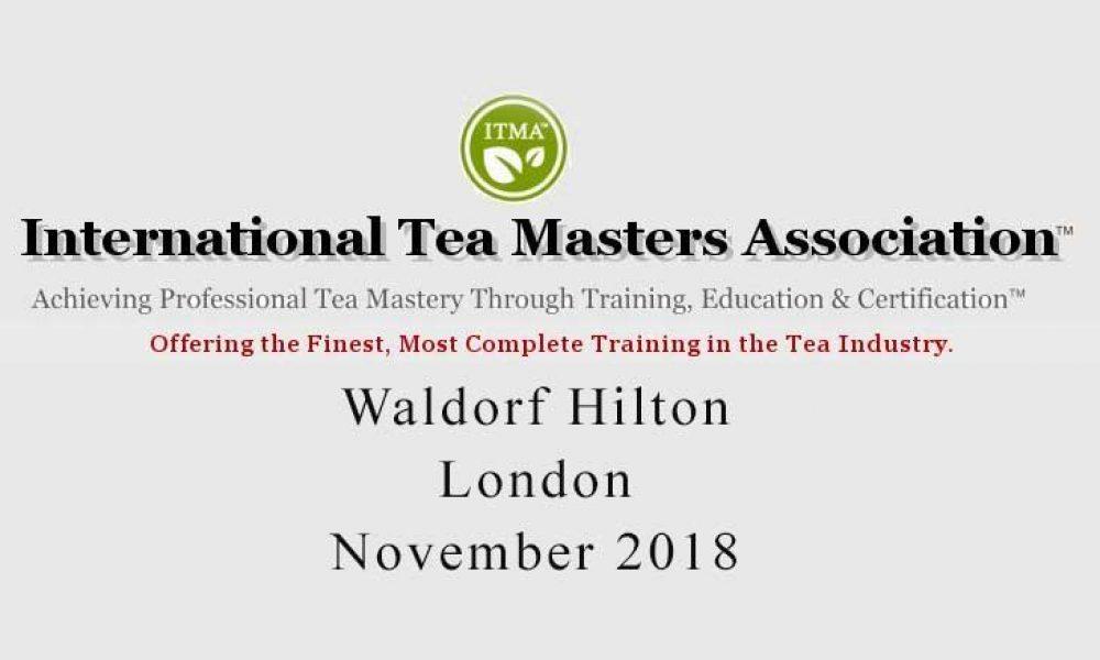 ITMA Tea Sommelier Course London November 2018